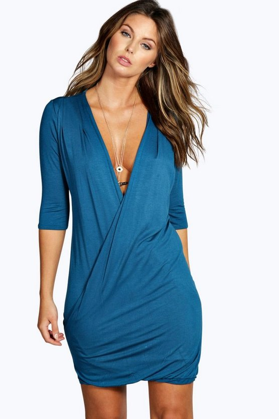 Lucy Wrap 3/4 Sleeve Dress