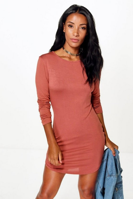 Larissa Curved Hem Bodycon Dress