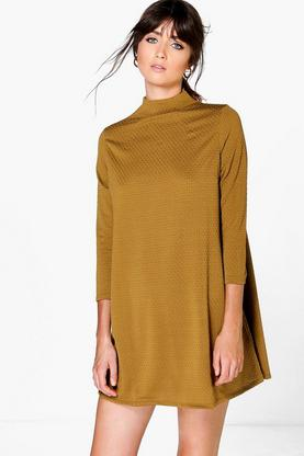 Carmen High Neck Shift Dress