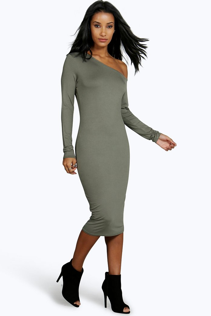 Kaya Off The Shoulder Bodycon Midi Dress