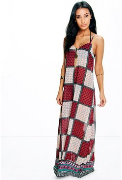 Amber Paisley Chiffon Maxi Dress