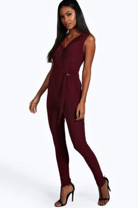 Lisa D Ring Detail Sleeveless Jumpsuit