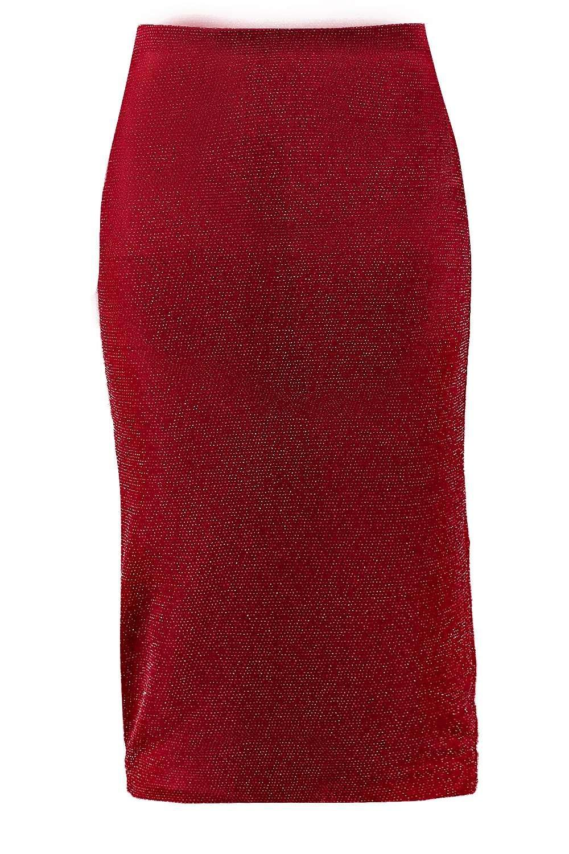 boohoo womens royah metallic sparkle midi skirt ebay