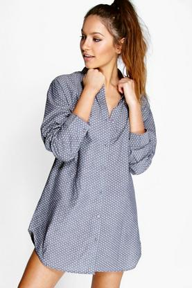 Madison Chambray Star Night Shirt