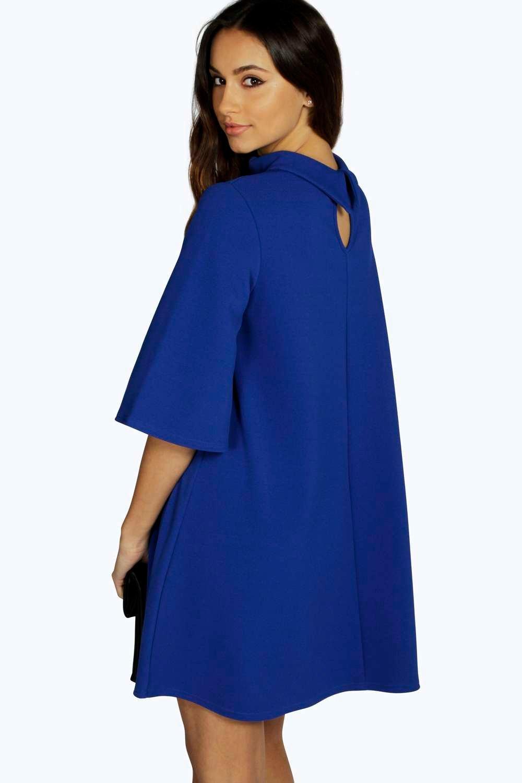 Excellent Women39s Stand Collar Sleeveless Floral Print ALine Dress  ACHICGIRL