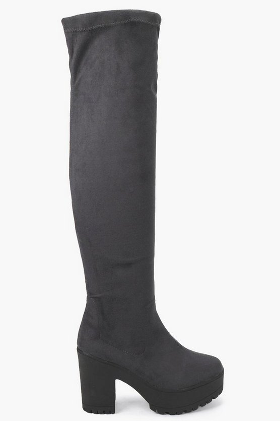 Scarlett Cleated Over The Knee Boot