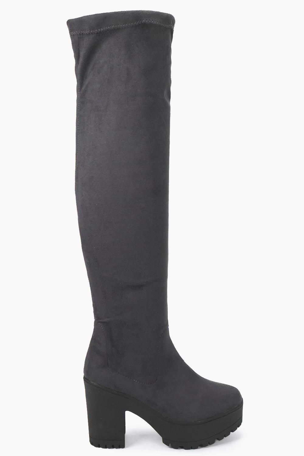 Scarlette Cleated Over The Knee Boot