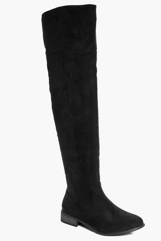 Annabelle Over The Knee Flat Boots