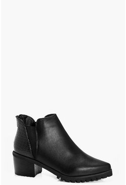 Eliza Cleated Pointed Chelsea Boot