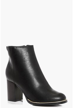 Hannah Detailed Rim Ankle Boot