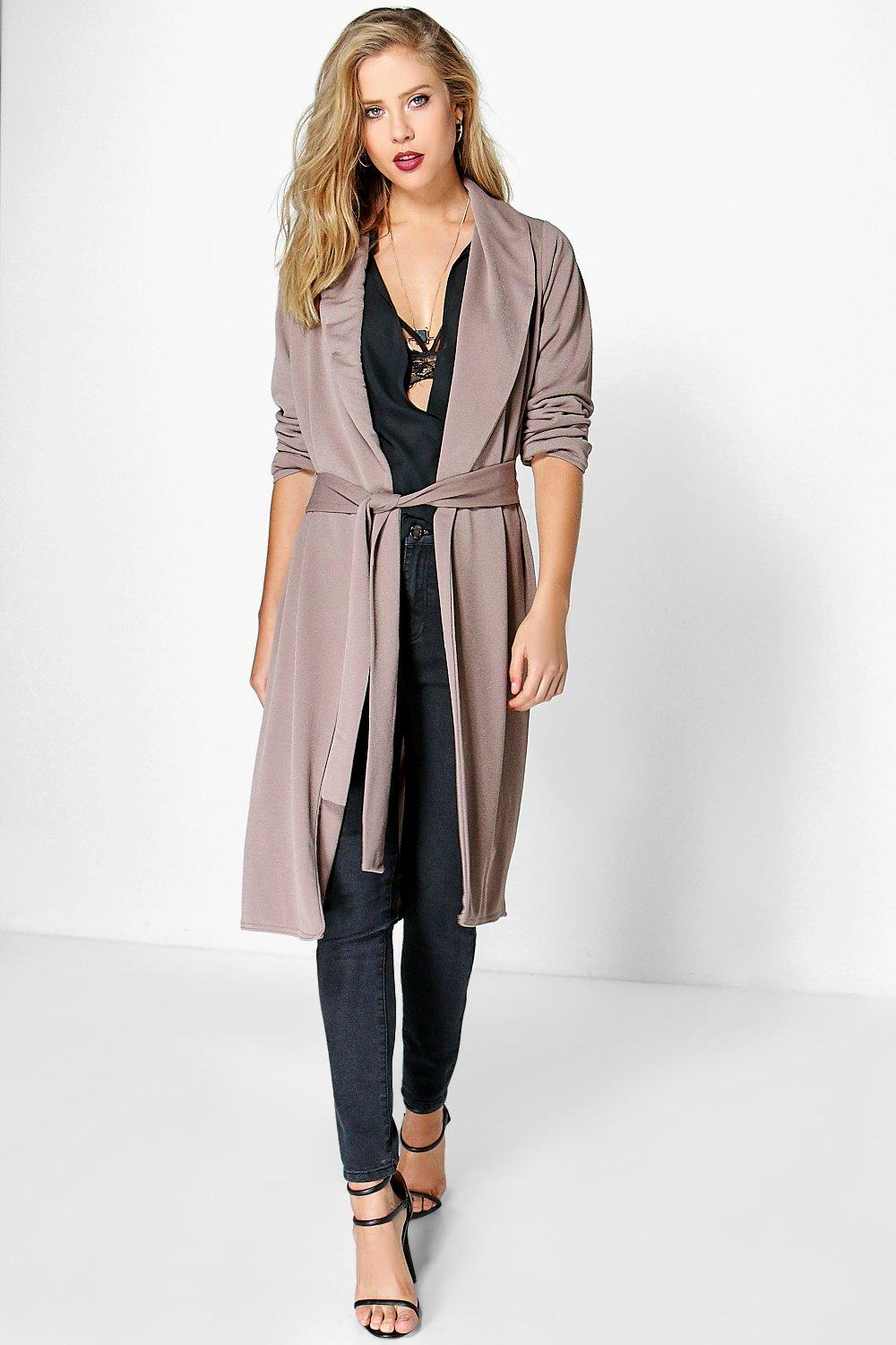 Ella Cross Back Belted Heavy Weight Duster