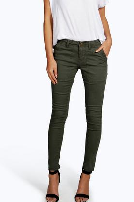 Jessica Cropped Low Rise Utility Skinny Jeans