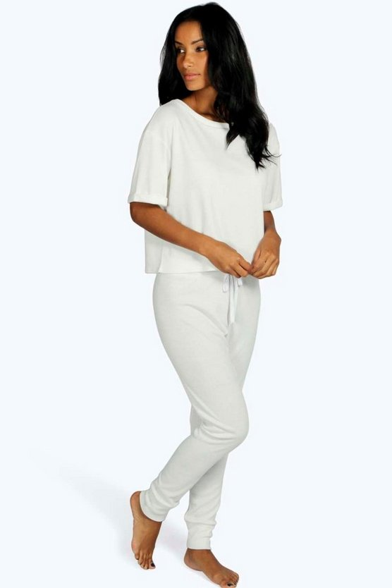 Kayla Ribbed TShirt And Jogger Lounge