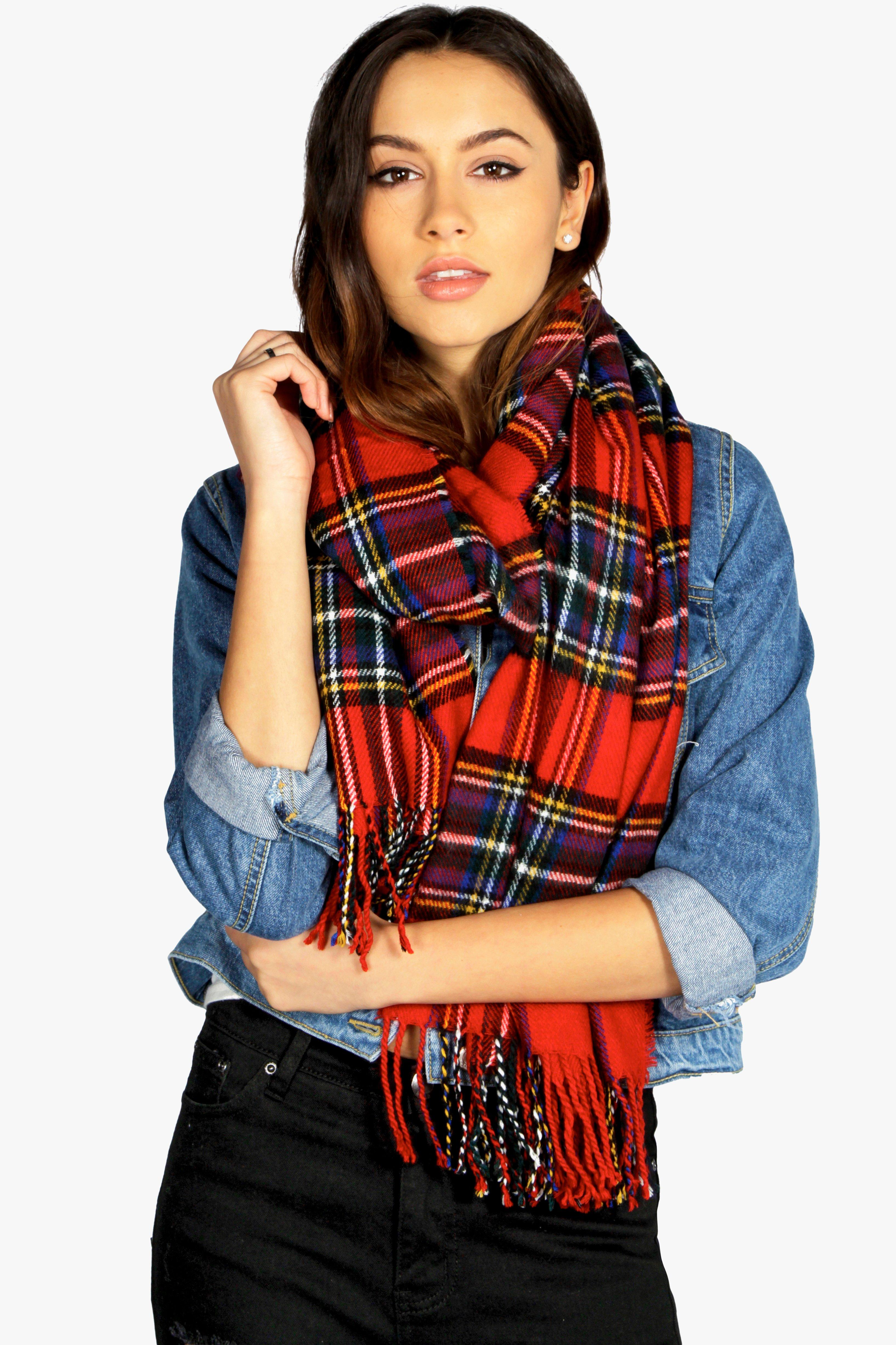 Tartan Scarf - red - Scarves and hats keep your st