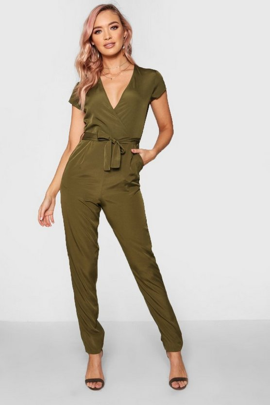 Hetty Capped Sleeve Wrap Jumpsuit