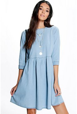 Laura Oversized Denim Smock Dress