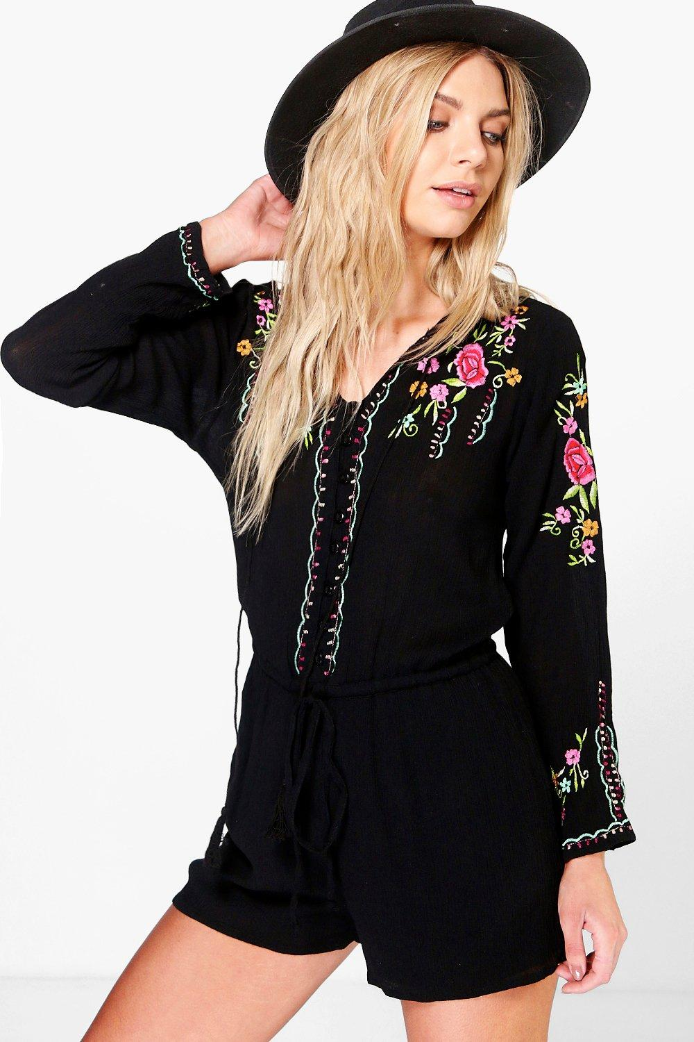 Julie Embroidered Playsuit