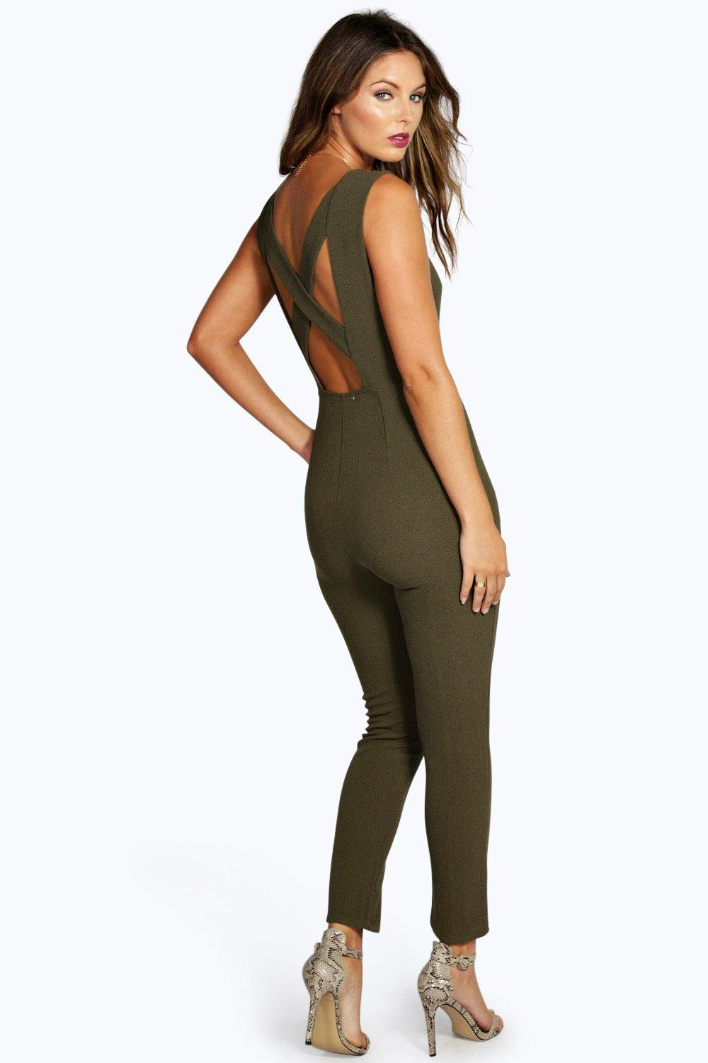 Boutique Cara Cross Back Jumpsuit