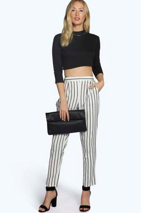 Zaina Pin Stripe Tailored Ankle Grazer Trouser