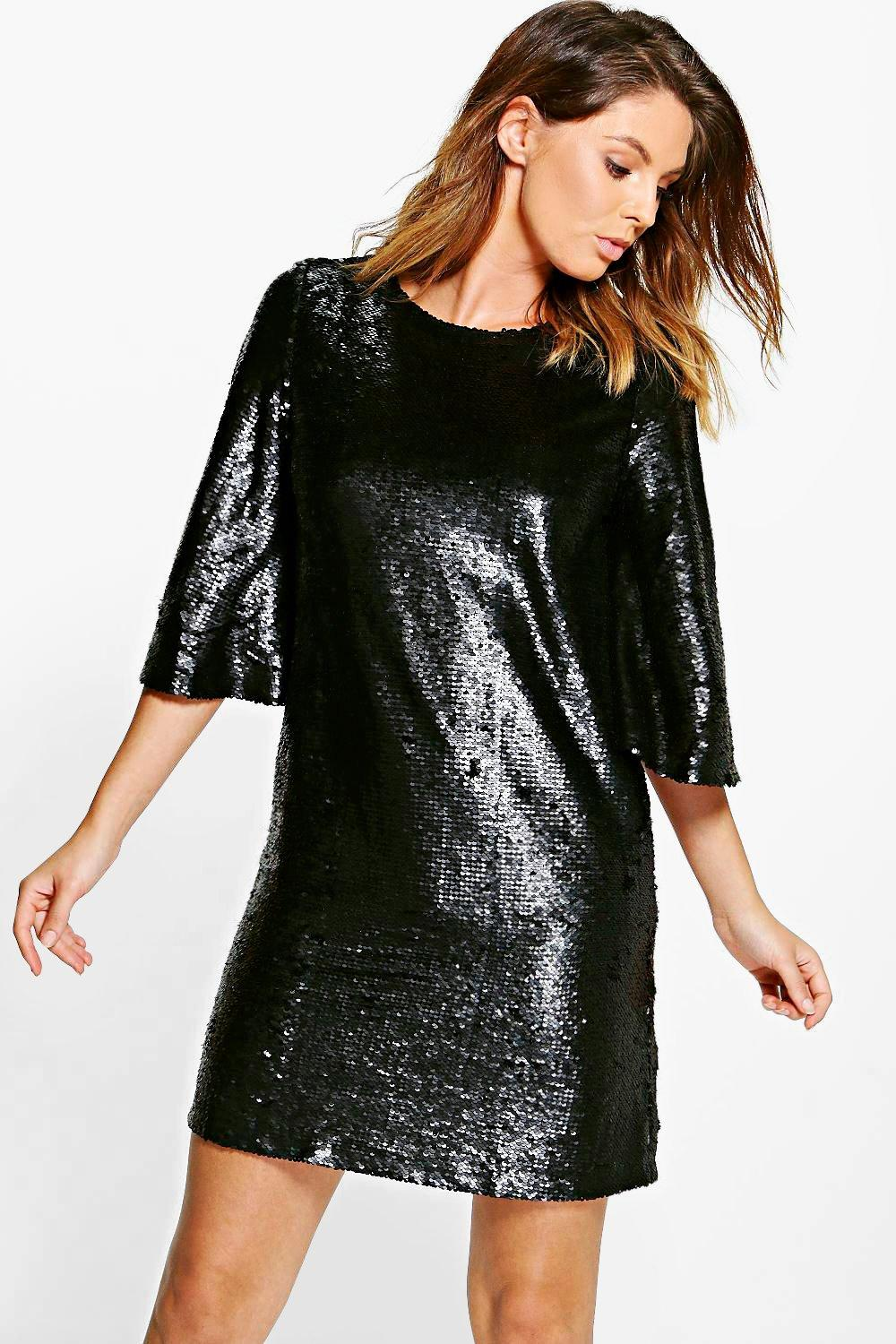 Boutique Leila All Over Sequin Shift Dress