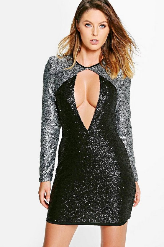 Boutique Alissa Sequin Bodycon Dress