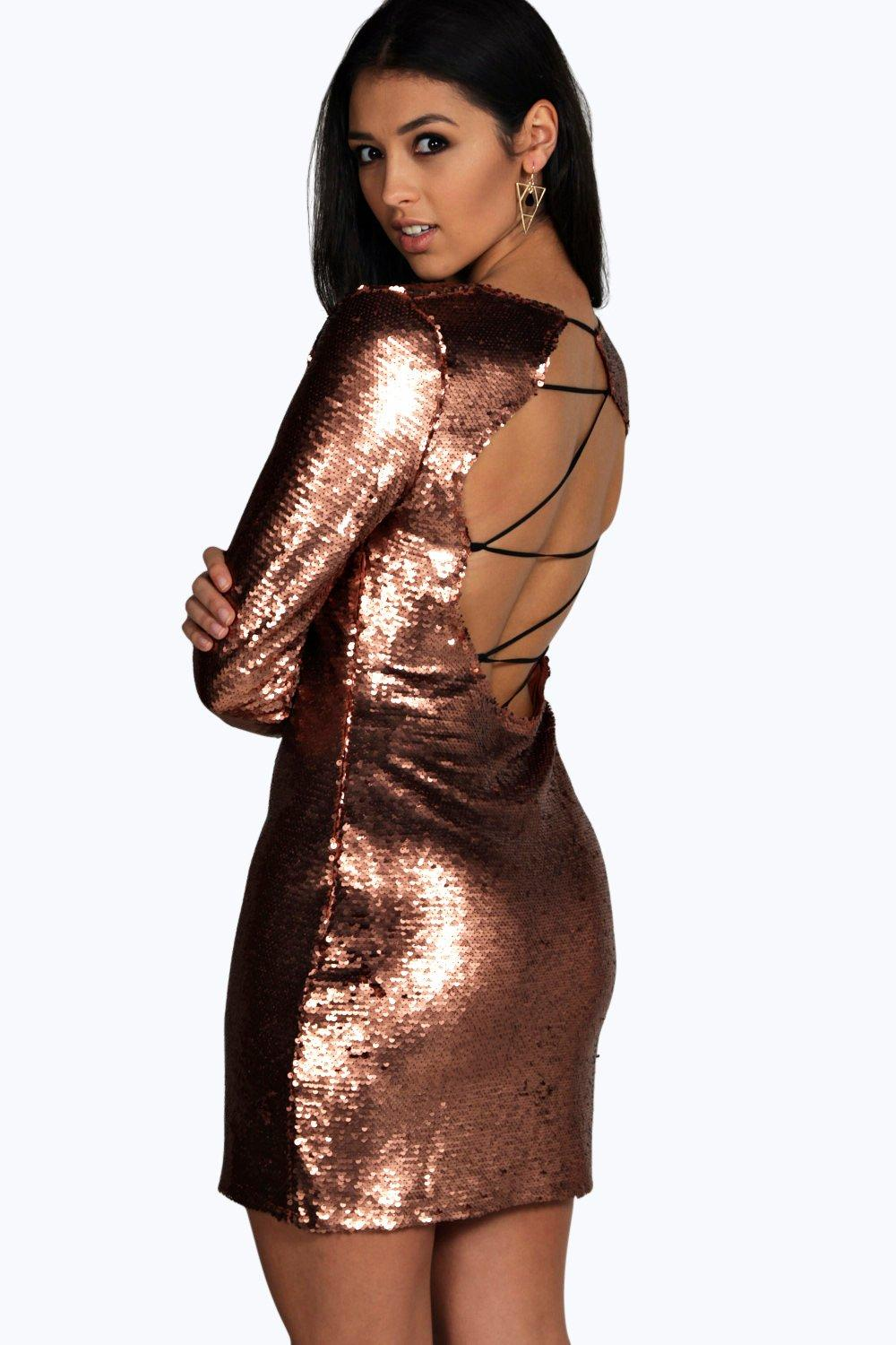 Boutique Jen Sequin Bodycon Dress