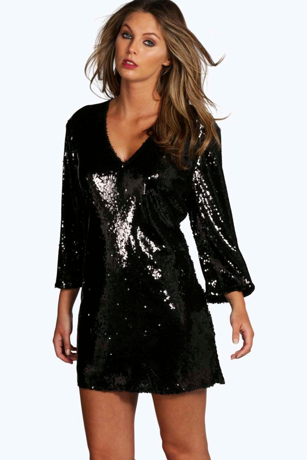 Boutique Persie All Over Sequin Shift Dress