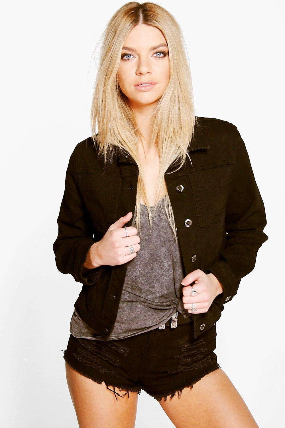 Cora Cropped Boxy Denim Jacket