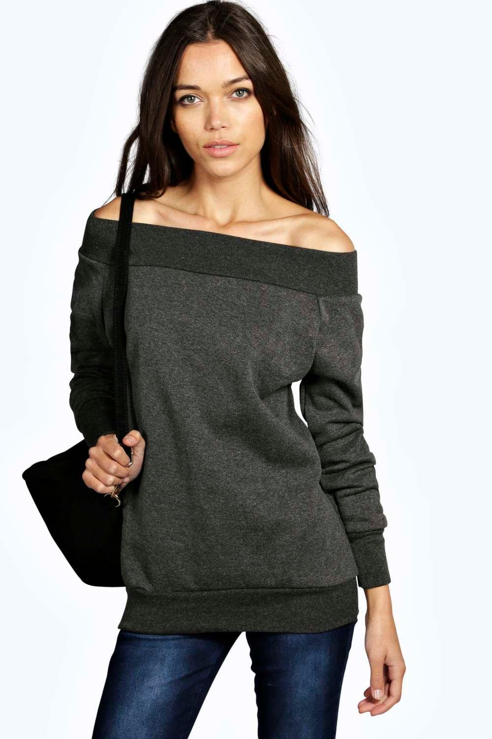 Macie Off The Shoulder Oversized Sweat