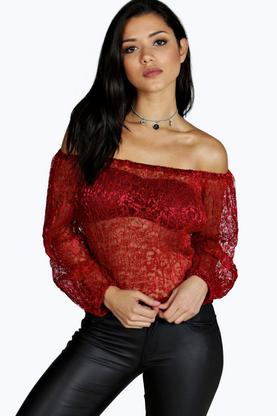 India Lace Off The Shoulder Top