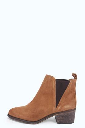 Boutique Amber Suede Pistol Boot