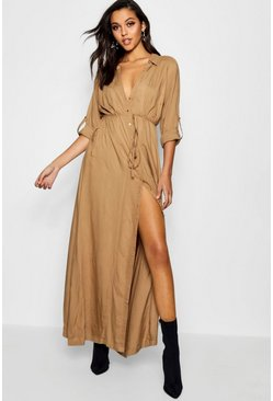 Deborah Utility Belted Maxi Dress