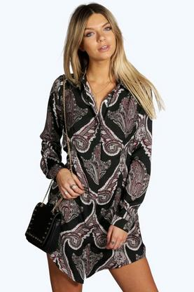 Lola Paisley Shirt Dress