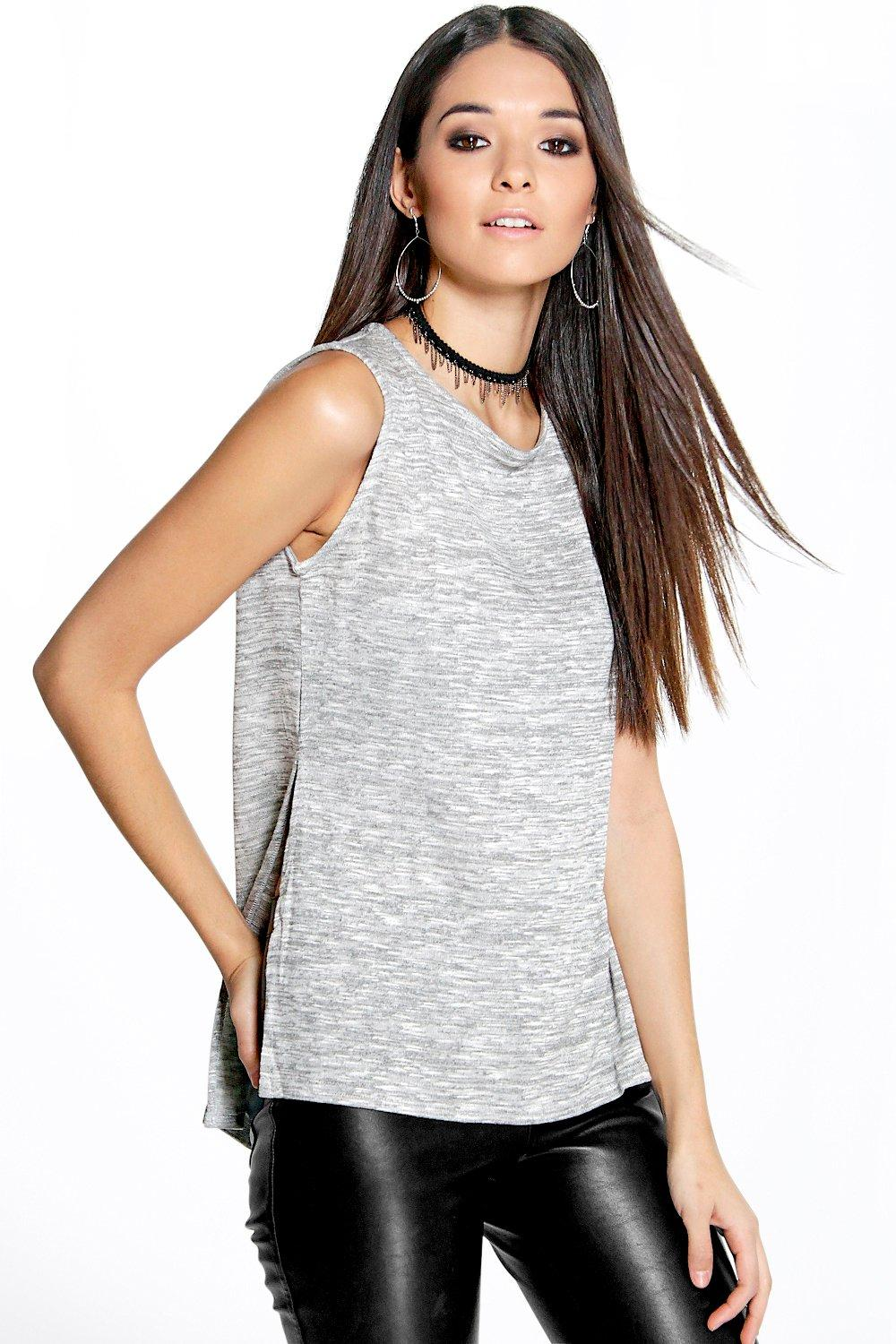 Cath Side Split Sleeveless Knit