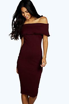 Willow Oversized Off The Shoulder Bodycon Dress