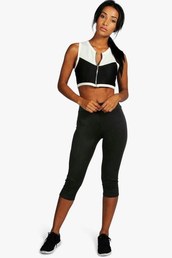 Imogen Fit Logo Calf Length Running Legging