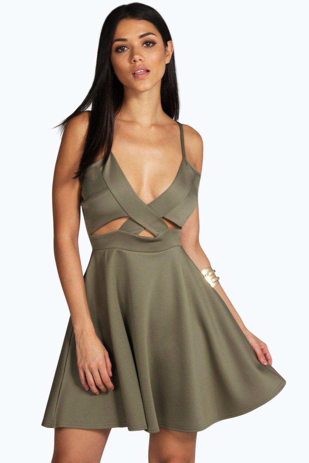 Emmeline Cut Out Detail Skater Dress
