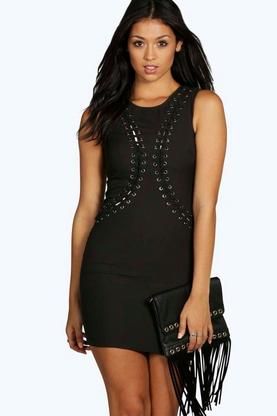 Boutique Kate Eyelet Mini Dress