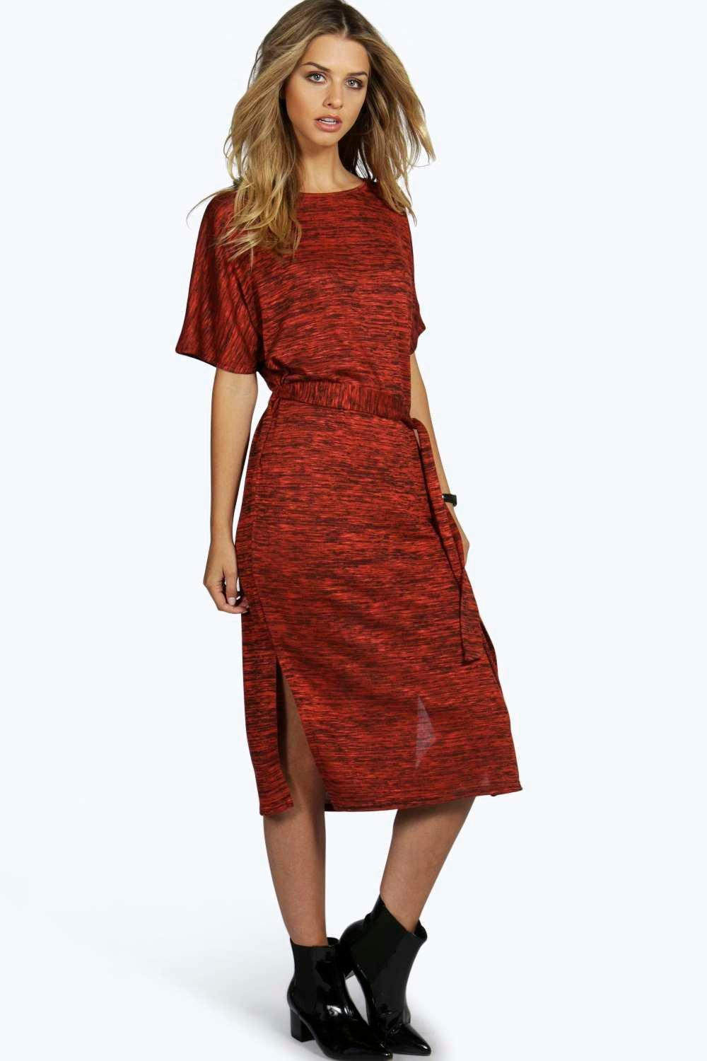 Holly Slub Knit Tie Dress