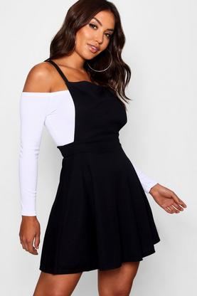 Laura Cross Back Pinafore Dress