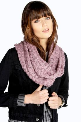 Abigail Popcorn Knit Snood