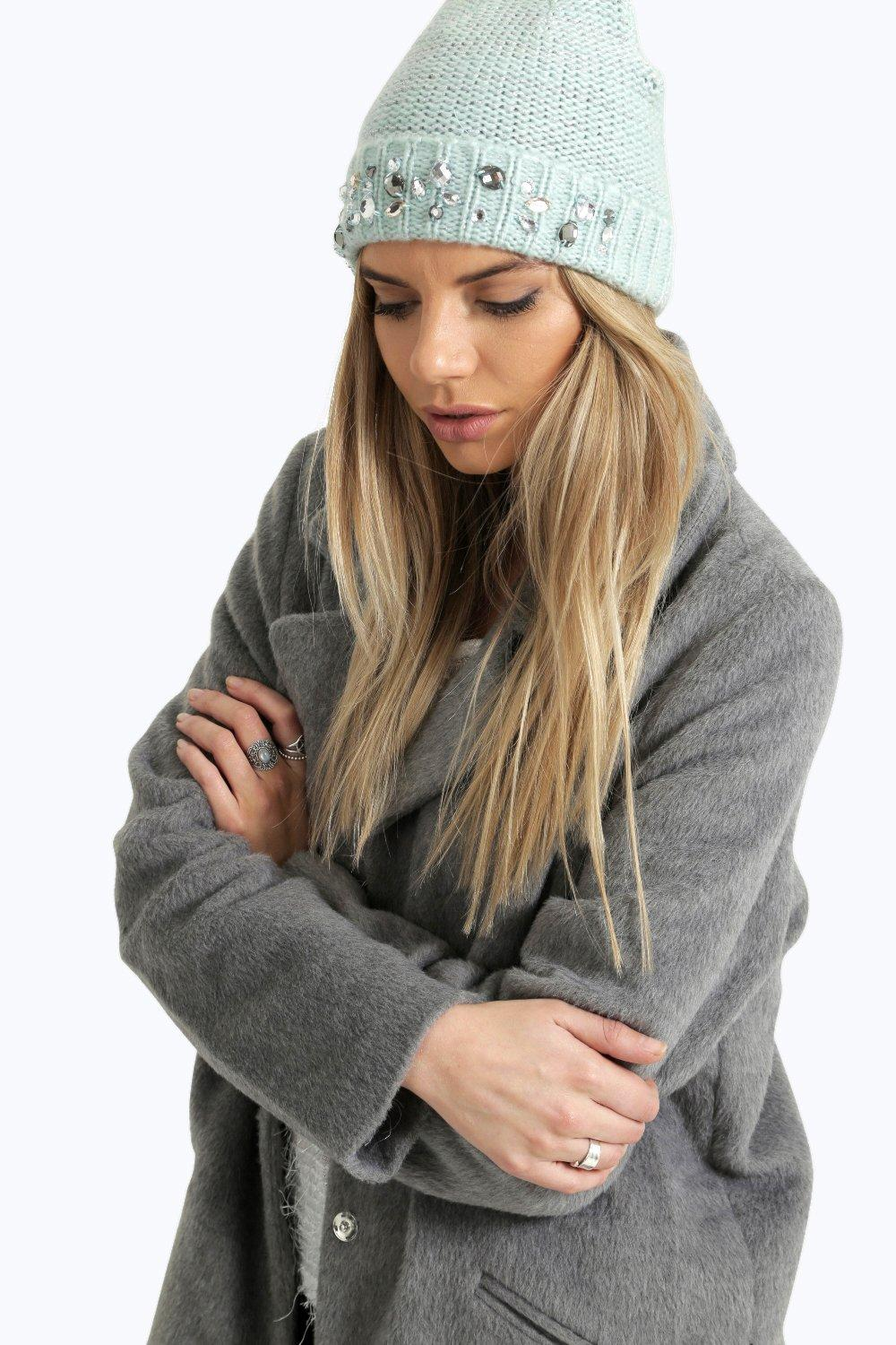 Bella Knit Beanie With Jewels