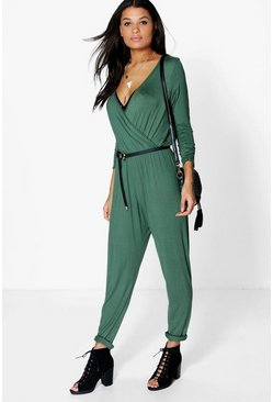 Olivia Wrap Front Casual Jumpsuit