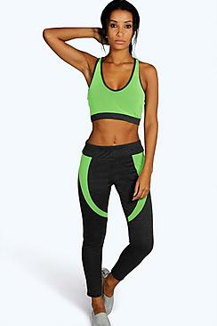 Anya Fit Neon Mesh Panel Sports Legging