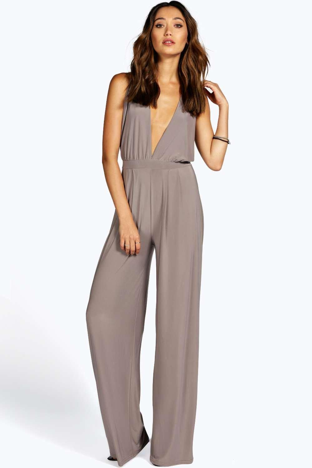Tanya Cross Back Soft Touch Wide Leg Jumpsuit