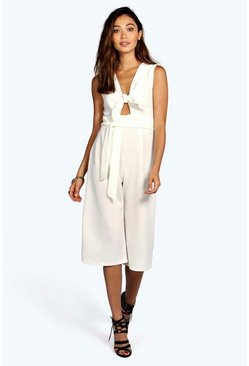 Holly Twist Front Culotte Jumpsuit
