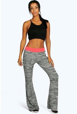 Claire Fit Yoga Contrast Space Dye Flare Jogger