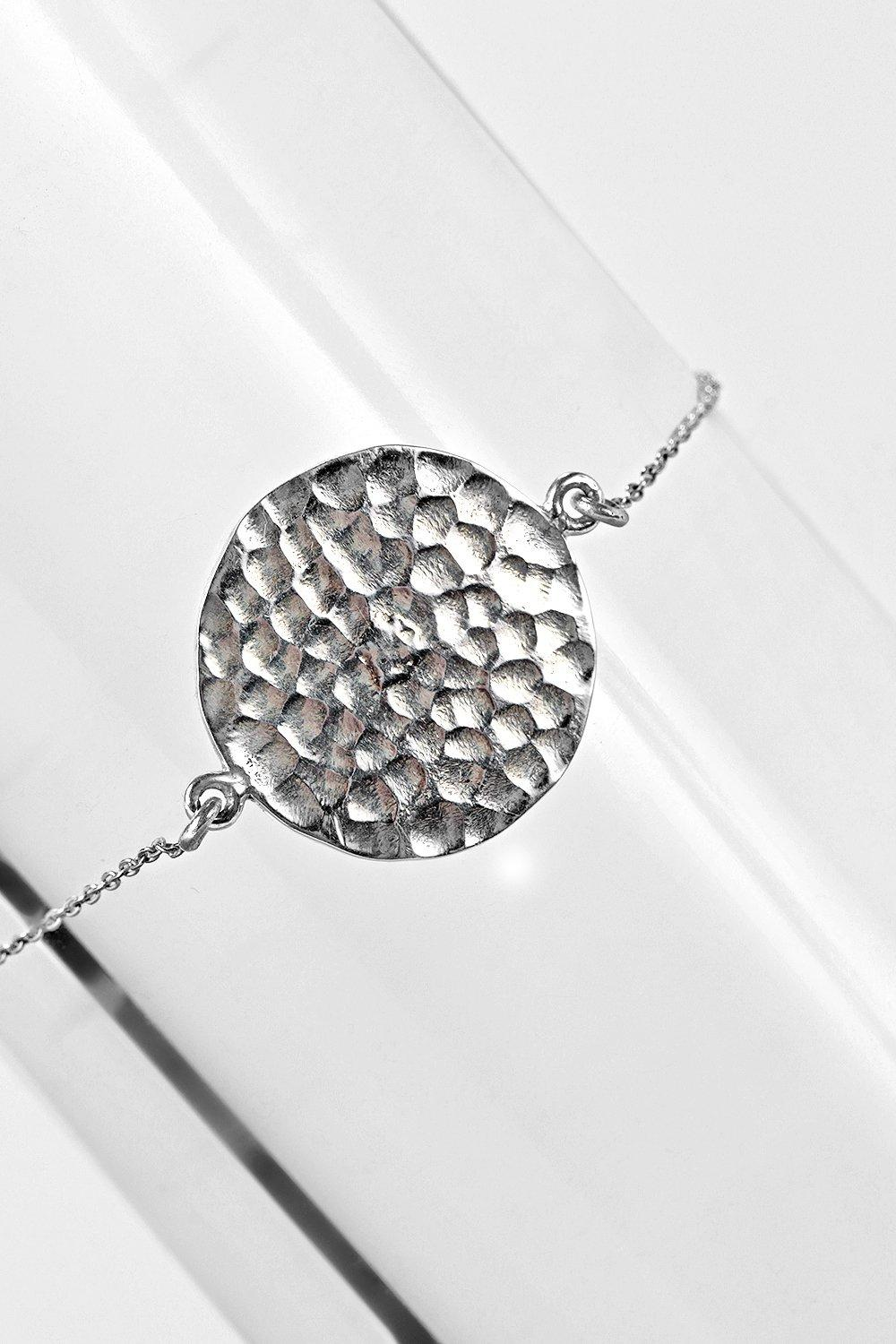 Boutique Sterling Silver Coin Bracelet