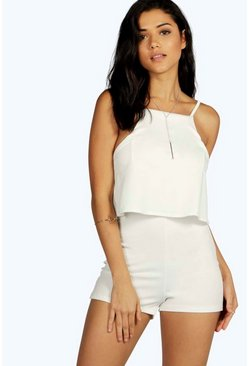 Lucia Frill Low Back Crepe Playsuit