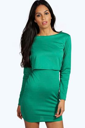 Danniella Double Layer Bodycon Dress